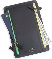rfid-blocking 4-zip leather travel organizer