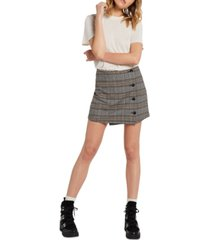 volcom juniors' frochickie wrap-front mini skirt
