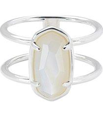 kendra scott genuine stone double band statement ring