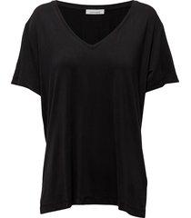 siff v-neck 6202 blouses short-sleeved zwart samsøe & samsøe