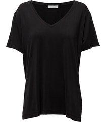 siff v-neck 6202 t-shirts & tops short-sleeved zwart samsøe samsøe