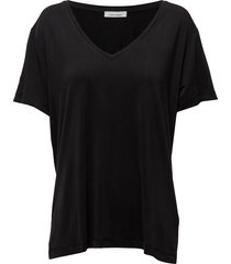 siff v-neck 6202 t-shirts & tops short-sleeved zwart samsøe samsøe