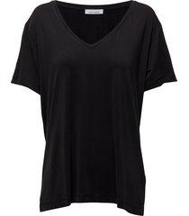 siff v-neck 6202 blouse korte mouwen zwart samsøe & samsøe