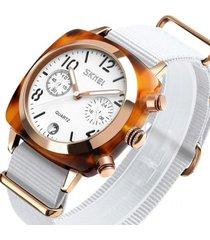 reloj deportivo mujer skmei 9186 blanco