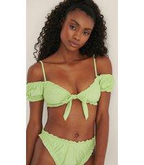 mimi a.r x na-kd recycled bikinitopp med volangdetaljer - green