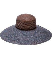 magnolia wide brim woven hat