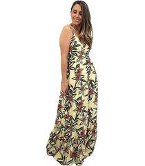 vestido longo em viscose mania de sophia - feminino