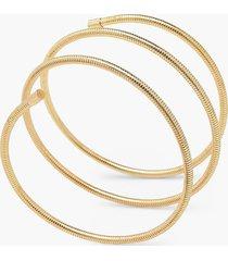 ronde wikkel armband, goud