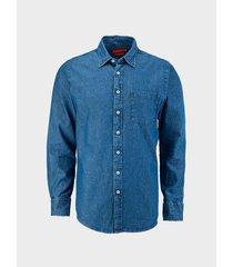 camisa denim silueta regular fit para hombre 09005