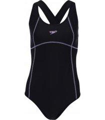 maiô para natação speedo cozy - adulto - preto