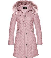 cappotto corto trapuntato in similpelle (rosa) - bpc selection premium
