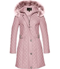cappotto corto trapuntato in similpelle (rosa) - bpc selection premium