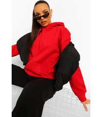 tall oversized effen hoodie, red