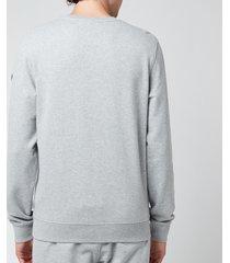 belstaff men's 1924 sweatshirt - grey melange/dark navy - xxl