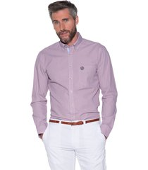 campbell casual shirt met lange mouwen paars