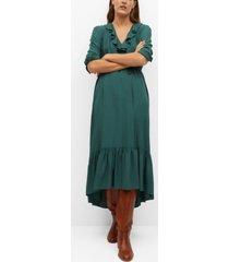 mango women's ruffles flowy dress