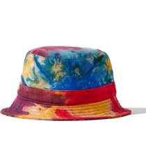tie-dyed cashmere and silk-blend bucket hat