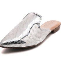 slipper plateado beira rio