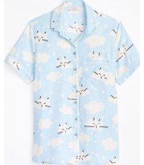 loft maternity cat pajama top
