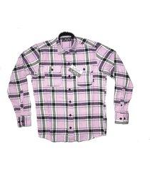 camisa leñadora rosa lava floyd