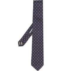 dsquared2 floral embroidered tie - blue