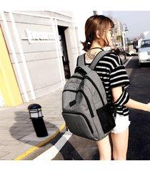 mochila para hombre, nuevo hombre mujer mochilas carga usb maletín-gris