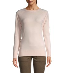 french connection women's raglan-sleeve sweater - capri blush - size m