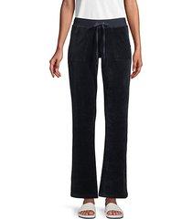 wide-leg cotton-blend drawstring pants