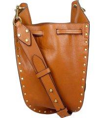 isabel marant radja shoulder bag in leather color leather