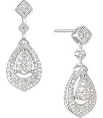 3/4 ct. t.w. round shape diamond drop earring in 14k white gold