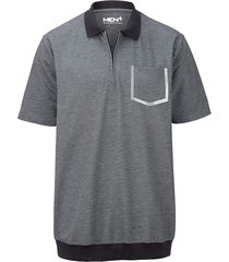 poloshirt men plus zwart::wolwit