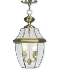 livex monterey 2-light outdoor chain lantern