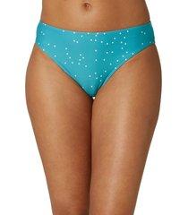 women's o'neill sandy's saphira dot bikini bottoms, size small - blue