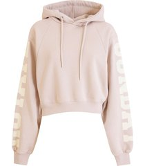 rotate by birger christensen rotate viola cropped hoodie