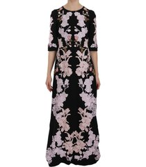 floral lace crystal gow jurk