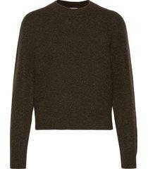 brooky knit volumen o-neck stickad tröja grön second female