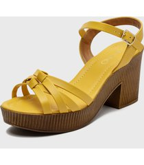 sandalia amarillo via uno