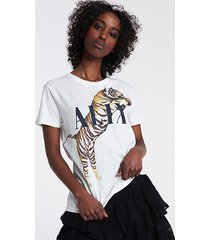 alix the label 2106862011 knitted alix tiger t-shirt.