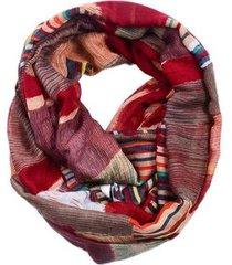 echarpe artestore lenço abstrato bordô feminino