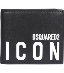 dsquared2 icon black wallet