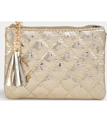 rosa quilted coin pouch - gold