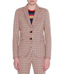 women's akris punto houndstooth jacquard blazer