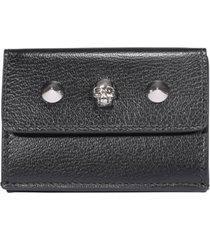 alexander mcqueen mini trifold skull wallet