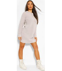 hooded knitted cropped dress, silver
