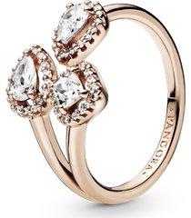 anel aberto pandora rose formas geométricas