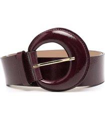 b-low the belt round-buckle leather belt - purple
