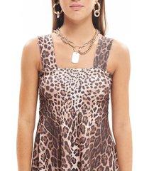 vestido animal print 47 street pixie leopard
