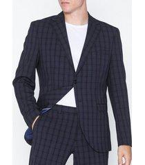 selected homme slhslim-mylologan navy/gr chk blz b kavajer & kostymer mörk blå