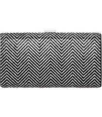 nina laken crystal herringbone clutch