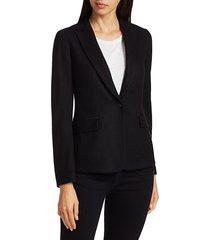 rag & bone women's lexington wool blazer - black - size 2